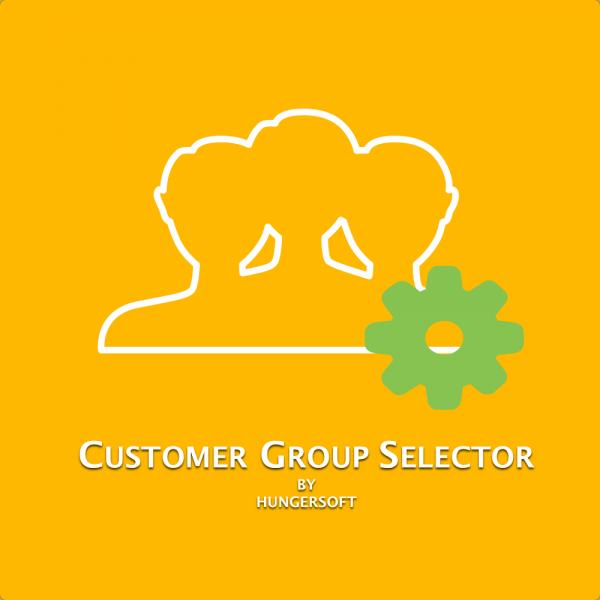 Customer group selector