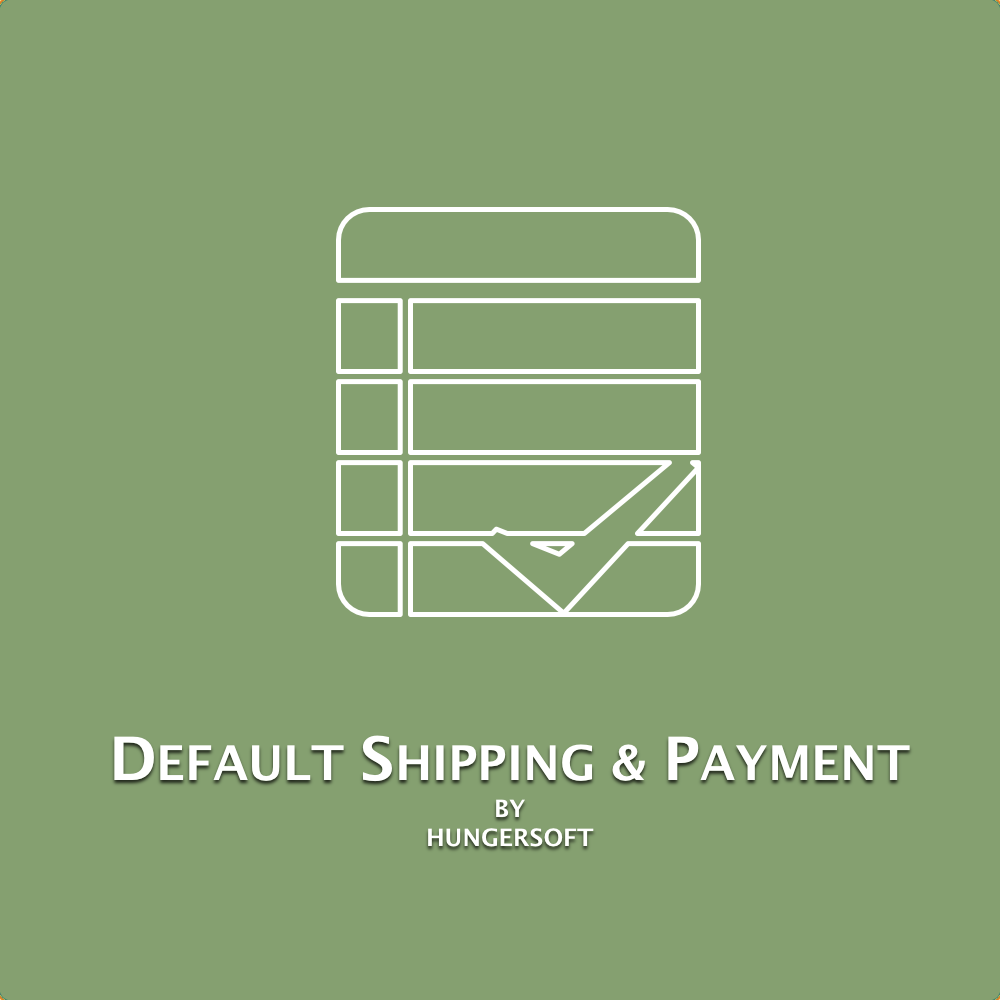 Default shipping Payment method
