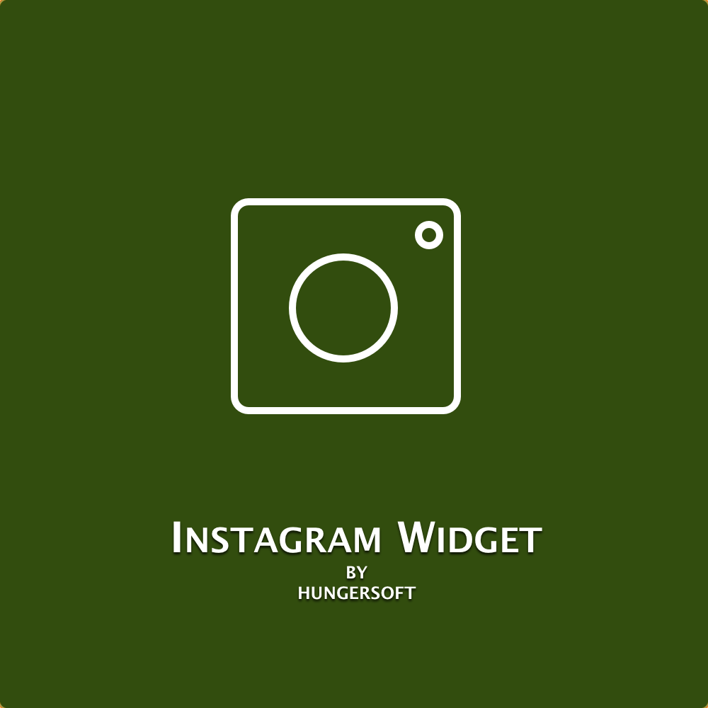 Instagram widget for Magento 2