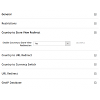 Geoip Redirect - Configuration - Country to Store View Redirect - Magento 2