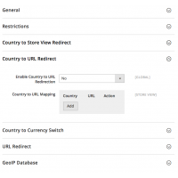 Geoip Redirect - Configuration - Country to URL Redirect - Magento 2