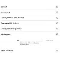 Geoip Redirect - Configuration - URL Redirect - Magento 2