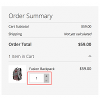 One Step Checkout - Review Order - Edit Quantity - Magento 2