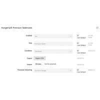 Premium Tablerates - Export/Import CSV - Magento 2