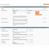 Magento Automatic Customer Group Switch - Configuration