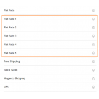 Multiple flat rate shipping methods 5